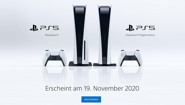 Starttermin der neuen PS5 Konsole